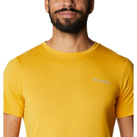 Columbia Maxtrail SS Logo Tee Men bright gold stacked